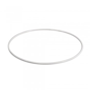 Kovový kruh, bílý, 25 cm ø