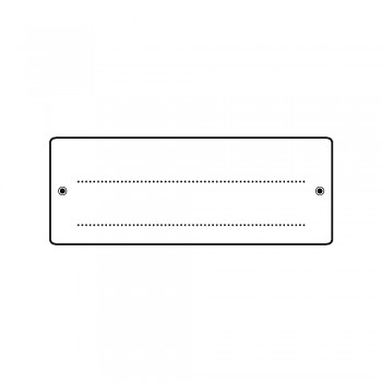 Mini silikonové razítko 4x7cm, vizitka