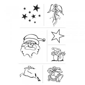 razítka silikonová - Vánoční motivy