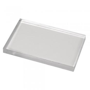 Akrylový blok pro silikonová a gumová razítka, 125x172x12mm