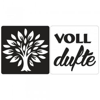 """Odlévací šablonka - strom života +""""voll dufte"""", 25x25mm, 2ks"""