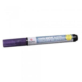 Fix na tmavý textil, kulatá špička 1-2 mm - růžový glitr