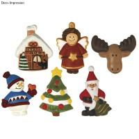 Odlévací forma - Vánoce - 6 motivů, 5,5-7,5 cm