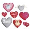 Odlévací forma - srdce, 8 motivů, 3,5-7cm