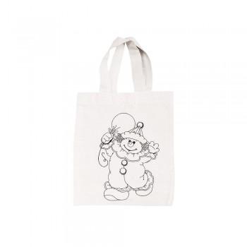 Bavlněná taška předkreslená - klaun, 25x21 cm