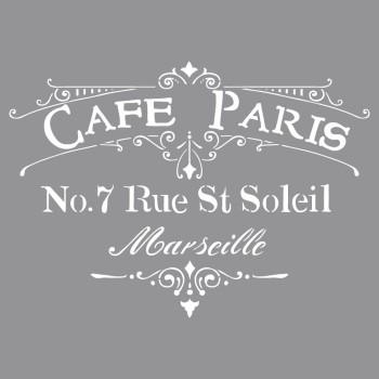 Šablona - Café Paris, 30,5x30,5cm