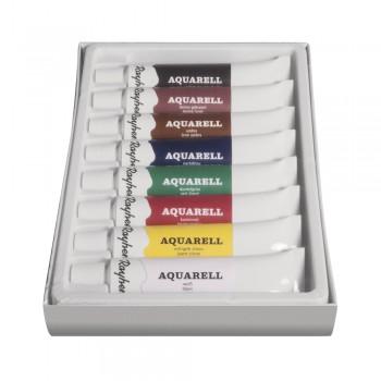 Sada uměleckých akvarelových barev, 8 barev x 12ml
