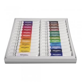 Sada uměleckých akvarelových barev, 24 odstínů x 12ml