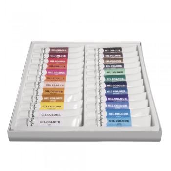 Sada uměleckých olejových barev, 24 odstínů x 12ml