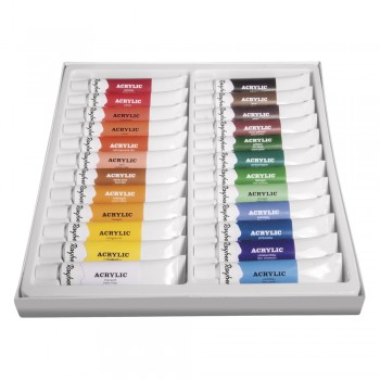 Sada uměleckých akrylových barev, 24 odstínů x 12ml