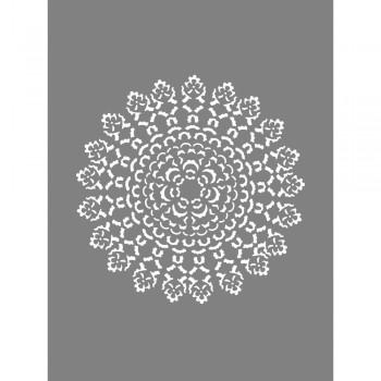 Šablona - Mandala malá, 15,25x20,32cm