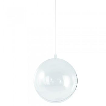 Plastová koule - dvoudílná, 18 cm ø, průhledná