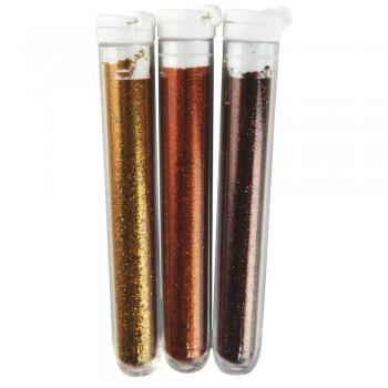 flitry jemné, 3x3g, hnědo-zlaté odstíny