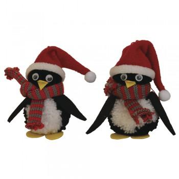 Kreativní set pro děti - bambulkové tvoření, tučňáčci 11,5cm, 4ks