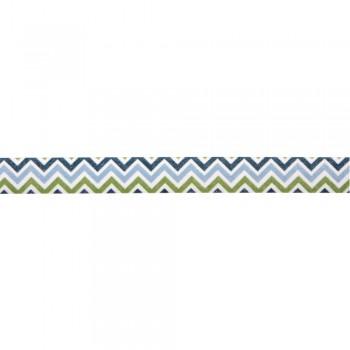 Washi Tape 15mm, 15m - cik-cak modrý