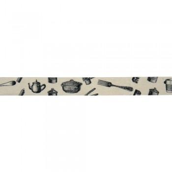 Washi Tape 15mm, 15m - kuchyně