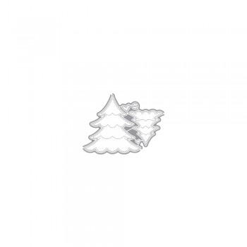 Výsekový nůž - Vánoční stromek, set 5ks