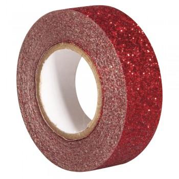 Glitter Tape - červená, 15mm, 5m