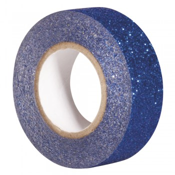 Glitter Tape - modrá, 15mm, 5m