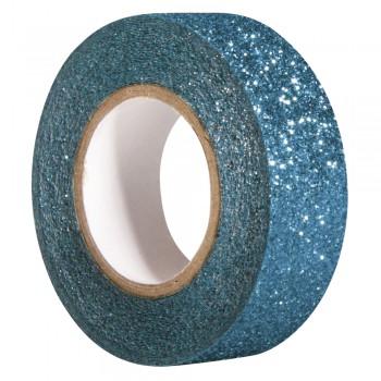 Glitter Tape, coelinblau, 15mm,  5m