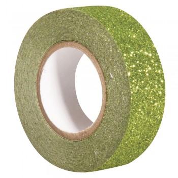 Glitter Tape - jarní zelená, 15mm, 5m