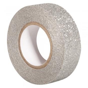 Glitter Tape - stříbrná, 15mm, 5m