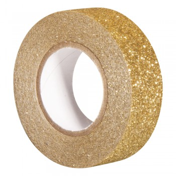 Glitter Tape - zlatá, 15mm, 5m
