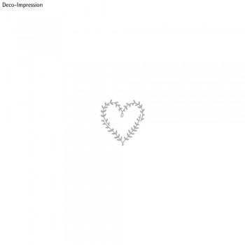 Výsekové nože - srdce z lístečků, 6.3x6.6cm