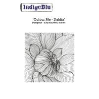 Razítko A6 - Colour me Dahlia, 90x90mm