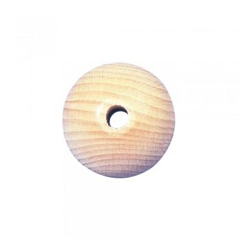 Dřevěný korálek, přírodní, 40mm, průvlek 8mm