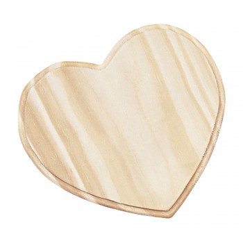 Srdce dřevěné, 12,5x10,5cm