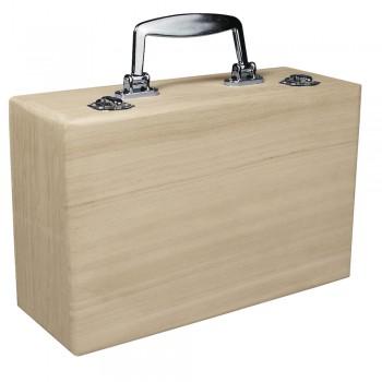 kufřík dřevěný,kovové držadlo, 25x16 cm,výška 9 cm