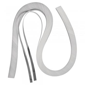 Quillingová folie, stříbrná, 53x0,6cm, 105 g/m2, 100ks