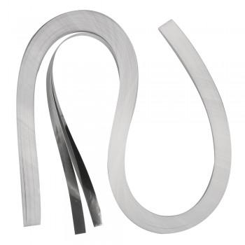 Quillingová folie, stříbrná, 53x0,9cm, 105 g/m2, 100ks
