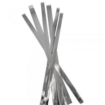 Fóliové proužky metalické, stříbrné, 3 velikosti, 48ks