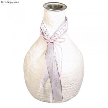Váza pappmaché, 10,5cm , s hliníkovou vložkou