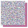 papír na origami 15x15cm, 65 listů - květinky modré tóny