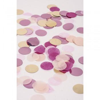 Konfety, 2cm , růžovo-zlato-fialová 30g