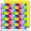 scrapbookový papír 30,5x30,5cm - barevné trojúhelníky
