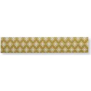 Washi Tape 15mm, 15m - bílé hvězdičky na zlaté